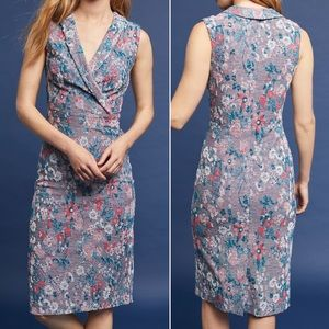 Anthropologie Maeve Sleeveless Jacquard Dress